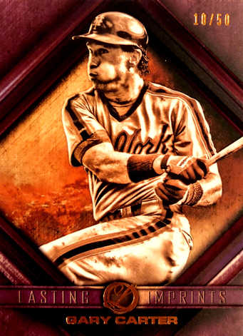 2016 Topps Legacies of Baseball Lasting Imprints Purple #LIGC Gary Carter/50