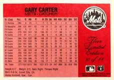 1986 Fleer Limited Edition #10 Gary Carter