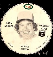 1982 FBI Discs #6 Gary Carter