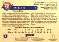 1993 Expos Donruss McDonald's #12 Gary Carter