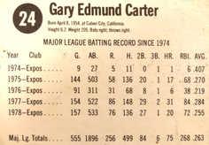 1979 Hostess #24 Gary Carter
