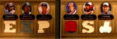 2007 Topps Triple Threads Relics Combos Double Sepia #23 Vladimir Guerrero/Pedro Martinez/Moises Alou/Gary Carter/Andre Dawson/Randy/27