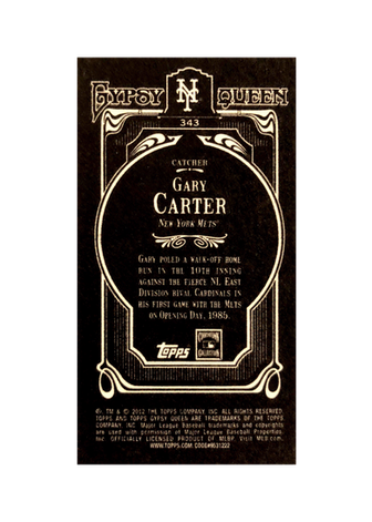 2012 Topps Gypsy Queen Mini Black #343 Gary Carter
