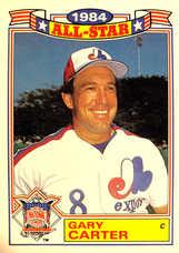 1985 Topps Glossy All-Stars #9 Gary Carter