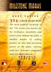 2001 Donruss Signature Milestone Marks #10 Gary Carter/213
