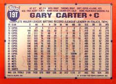 1991 Topps Traded Tiffany #19T Gary Carter