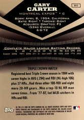 2006 Topps Triple Threads #80 Gary Carter HOF