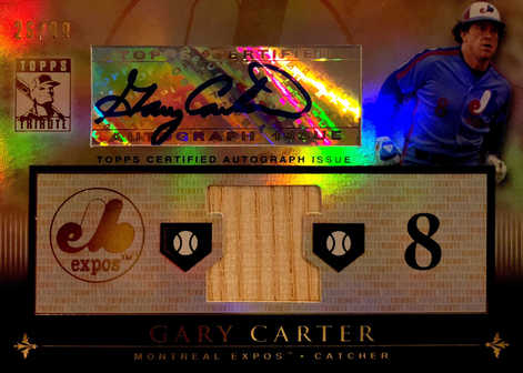 2010 Topps Tribute Autograph Relics #GC1 Gary Carter/99