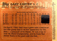 2005 Topps All-Time Fan Favorites Autographs Rainbow #GC Gary Carter/10