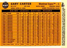 2006 Topps Wal-Mart #WM9 Gary Carter 60 S2