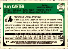 2005 Topps Pristine Legends Gold Die Cut Refractors #11 Gary Carter/65