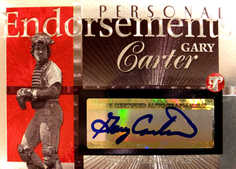 2005 Topps Pristine Legends Personal Endorsements #GC Gary Carter