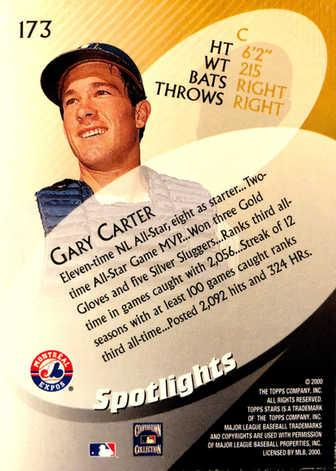 2000 Topps Stars #173 Gary Carter SPOT