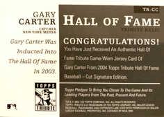 2004 Topps Tribute HOF Relics #GC G.Carter Mets/200