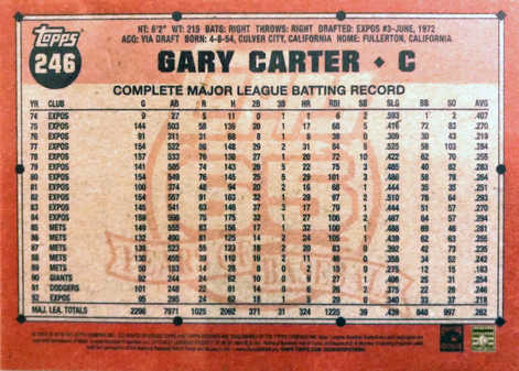 2016 Topps Archives #246 Gary Carter