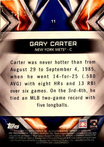 2017 Topps Fire Green #11 Gary Carter/199