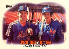1988 Topps #579 Gary Carter/Kevin McReynolds Team Leaders