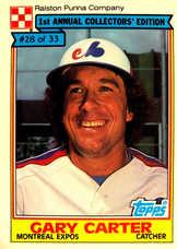 1984 Ralston Purina #28 Gary Carter