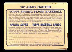 1987 Topps Stickers #101 Gary Carter