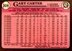 1989 O-Pee-Chee #324 Gary Carter