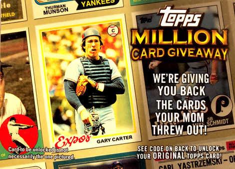 2010 Topps Million Card Giveaway #TMC2 Gary Carter