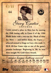 2009 Topps Tribute Black #64 Gary Carter/99