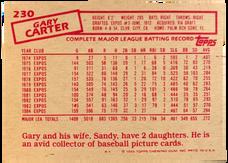 1985 Topps/OPC Minis #230 Gary Carter