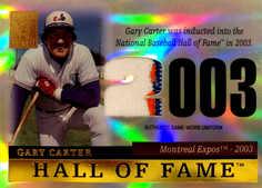 2004 Topps Tribute HOF Relics #GCU Gary Carter Expos