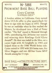 2006 Topps Turkey Red White #588 Gary Carter