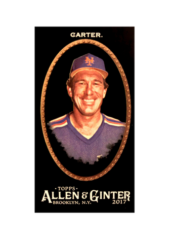 2017 Topps Allen and Ginter X Mini #324 Gary Carter SP