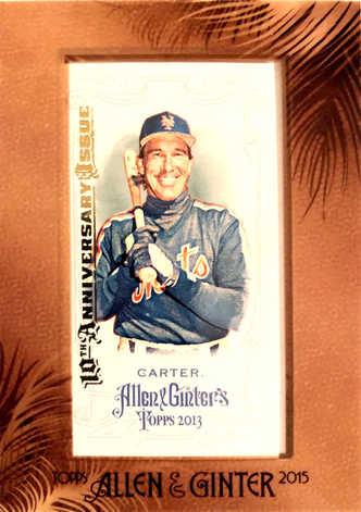 2015 Topps Allen & Ginter 10th Anniversary Framed Mini #8 Gary Carter