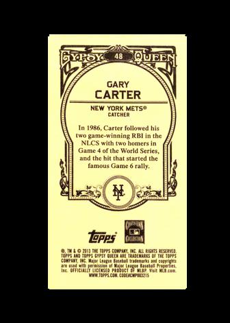 2013 Topps Gypsy Queen Mini #48 Gary Carter