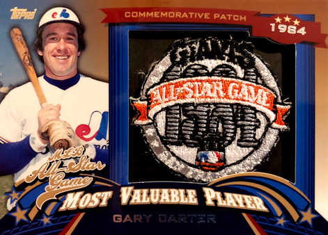 2013 Topps Update All Star Game MVP Commemorative Patches #9 Gary Carter