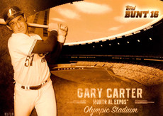 2016 Topps Bunt Stadium Heritage Gold 5X7 #SH13 Gary Carter/10