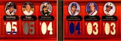 2007 Topps Triple Threads Relics Combos Double #46 Ryne Sandberg/Wade Boggs/Dennis Eckersley/Paul Molitor/Gary Carter/Eddie Murray/36