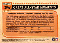 2018 Topps S2 1983 Topps Baseball All Stars Red #83AS73 Gary Carter #/10