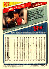 1993 Topps Inaugural Marlins #205 Gary Carter/10000
