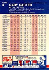 1987 Fleer #4 Gary Carter