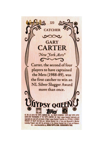 2016 Topps Gypsy Queen Mini Gold #320 Gary Carter/50