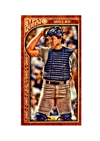 2015 Topps Gypsy Queen Mini Leather #320 Gary Carter SP 1/1