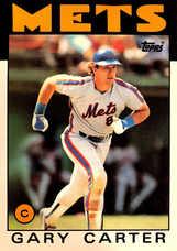 1986 Topps Super #19 Gary Carter (5X7)