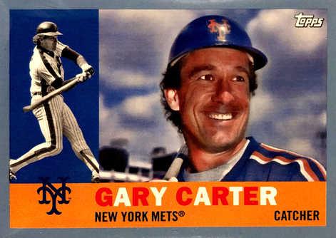 2017 Topps Archives Light Blue #61 Gary Carter/75