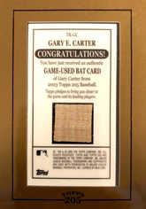 2003 Topps 205 Relics #GC Gary Carter Bat A2