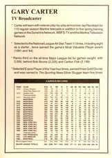 1993 Florida Marlins Announcer Card