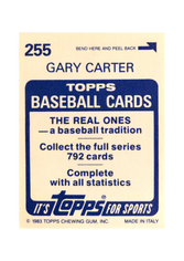 1983 Topps Stickers #255 Gary Carter