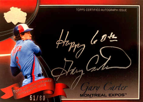 2011 Topps Diamond Anniversary Autographs #60AGC Gary Carter Mets/60