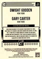 2018 Donruss #207 Gary Carter/Dwight Gooden