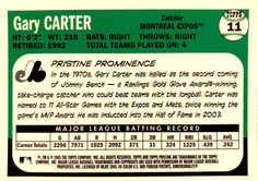 2005 Topps Pristine Legends #11 Gary Carter