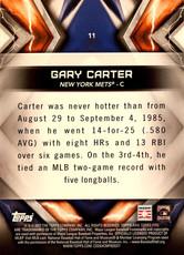 2017 Topps Fire 5X7 Gold #11 Gary Carter/10