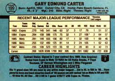 1988 Donruss #199 Gary Carter